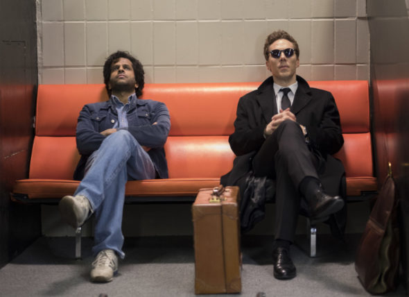 Patrick Melrose TV show on Showtime: canceled or renewed for another season?; PICTURED L-R: Prasanna Puwanarajah and Benedict Cumberbatch