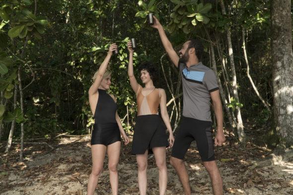 3% TV show on Netflix: season 3 renewal (canceled or renewed?); Pictured: Fernanda Vasconcellos, Maria Flor, Silvio Guindane