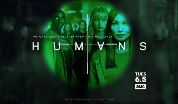 Humans TV show on AMC: season 3 ratings (canceled renewed season 4?)