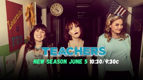 Teachers TV show on TV Land: season 3 ratings (canceled renewed season 4?)