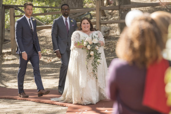 Release date; This Is Us TV show on NBC: season 3 premiere date (canceled or renewed?); Pictured: (l-r) Justin Hartley as Kevin, Sterling K. Brown as Randall, Chrissy Metz as Kate