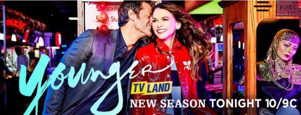 Younger TV show on TV Land: season 5 ratings (canceled renewed season 6)