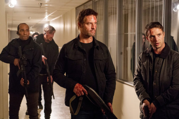 Colony TV show on USA Network: canceled, no season 4 (canceled or renewed?); Josh Holloway as Will Bowman, Will Brittain as Dave O'Neill