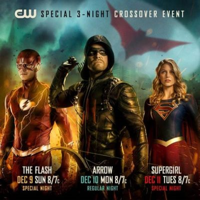 Arrow, The Flash, Supergirl TV shows on The CW