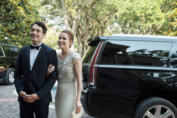 The Purge TV show on USA Network and Syfy: season 1 viewer votes episode ratings (cancel or renew season 2?); Pictured: (l-r) Colin Woodell as Rick, Hannah Anderson as Jenna