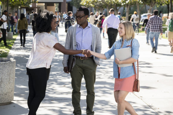 The Good Place TV show on NBC: canceled or season 4? (release date); Vulture Watch