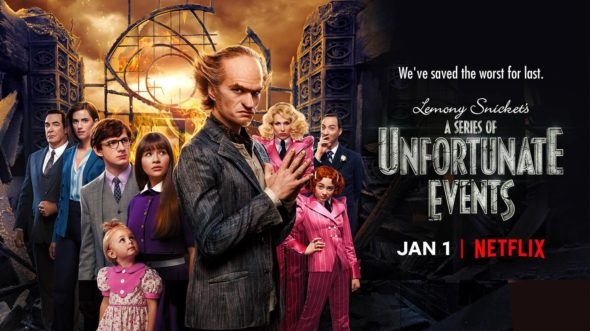 A Series of Unfortunate Events TV show on Netflix: season 3 viewer votes (cancel or renew season 4?)
