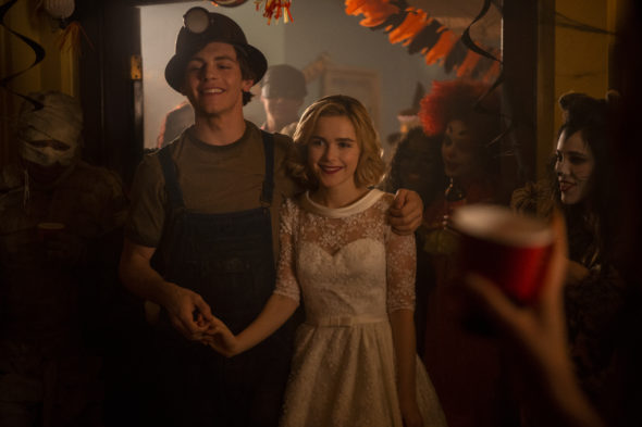 Release date: Chilling Adventures of Sabrina TV show on Netflix: part 2 (canceled or renewed?); PICTURED Ross Lynch, Kiernan Shipka