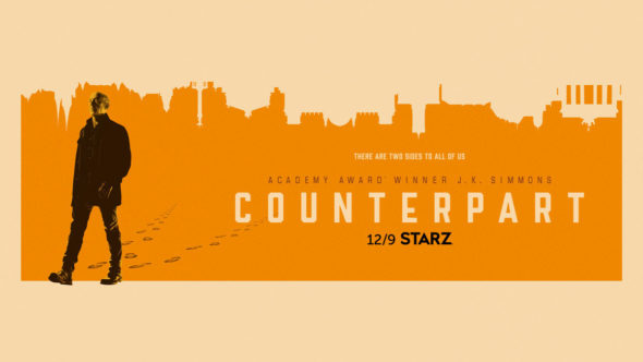 Counterpart TV show on Starz; season 2 ratings (canceled or renewed season 3?)