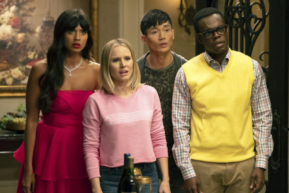 The Good Place TV show on NBC: season 4 renewal (canceled or renewed?)