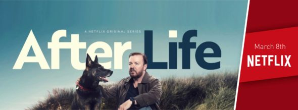 After Life TV show on Netflix: season 1 viewer votes (cancel or renew season 2?)