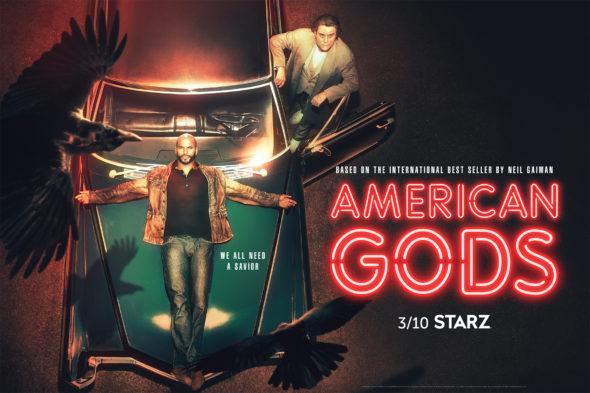 American Gods TV show on Starz: season 2 ratings (canceled or renewed season 3?)