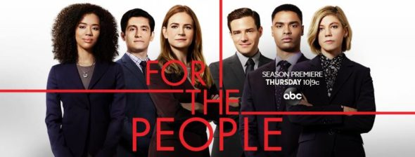 For the People TV show on ABC: season 2 ratings (canceled or renewed season 3?)