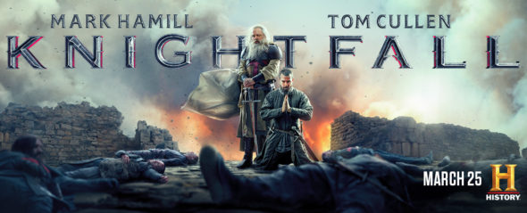 Knightfall TV show on History: season 2 ratings (canceled or renewed season 3?)