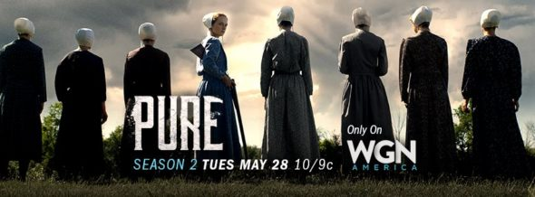 Pure TV show on WGN America: season 2 ratings (canceled renewed season 3?)