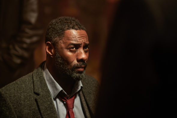 Luther TV show on BBC America: season 5 ratings (canceled renewed season 6?); Pictured: Idris Elba as DCI John Luther