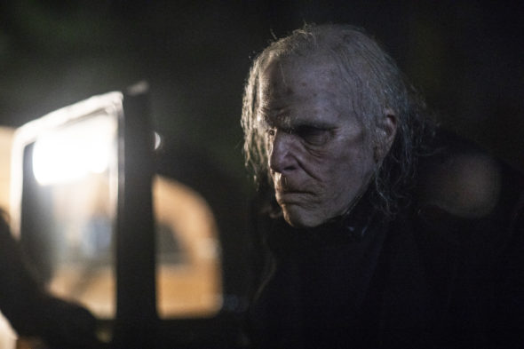 NOS4A2 TV show on AMC: canceled or renewed for another season?; Pictured: Zachary Quinto as Charlie Manx