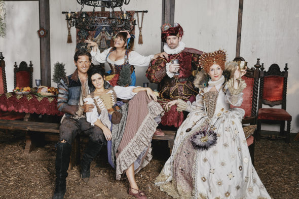 TV Show Description; American Princess TV show on Lifetime: canceled or renewed for another season?; Pictured: Lucas Neff, Georgia Flood, Seana Kofoed, Mary Hollis Inboden, Rory O'Malley