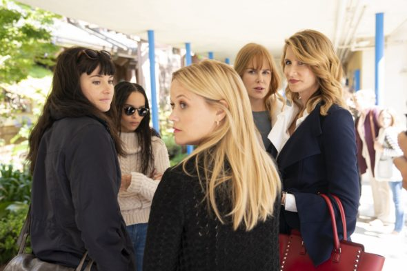 Big Little Lies TV show on HBO: canceled or season 3? (release date); Vulture Watch; Pictured: Shailene Woodley, Zoë Kravitz, Reese Witherspoon, Nicole Kidman, Laura Dern