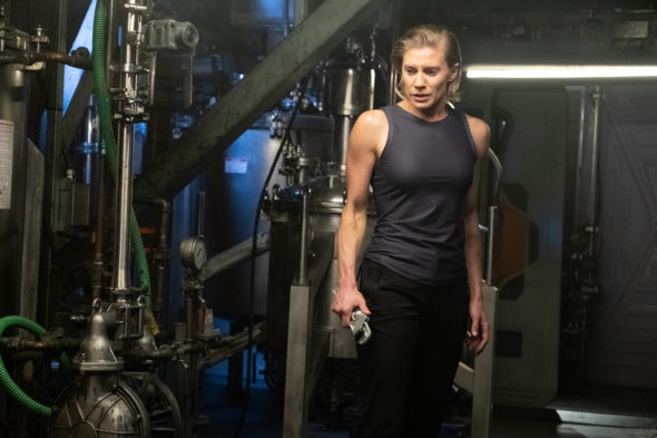 Another Life TV show on Netflix: canceled or renewed for another season?; Pictured: Katee Sackhoff as Niko Breckinridge