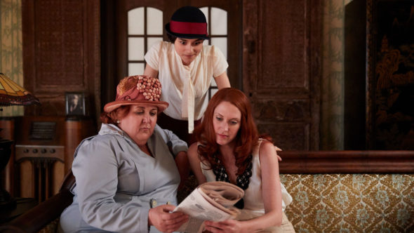 Frankie Drake Mysteries TV show on Ovation: season 2 viewer votes (cancel renew season 3?)