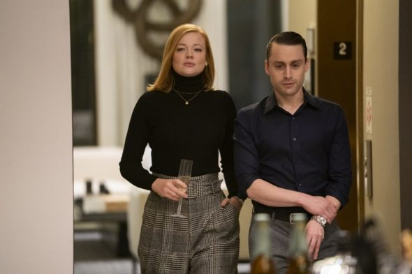 Succession TV show on HBO: season 2 viewer votes (cancel renew season 3?); PICTURED: Sarah Snook, Kieran Culkin