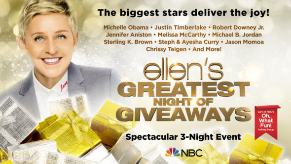 Ellen's Greatest Night of Giveaways TV show on NBC: season 1 ratings