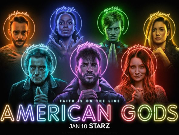 American Gods TV show on Starz: (canceled or renewed?)