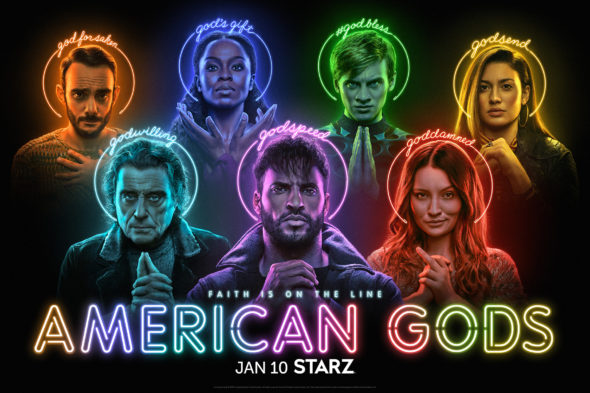 American Gods TV show on Starz: season 3 ratings