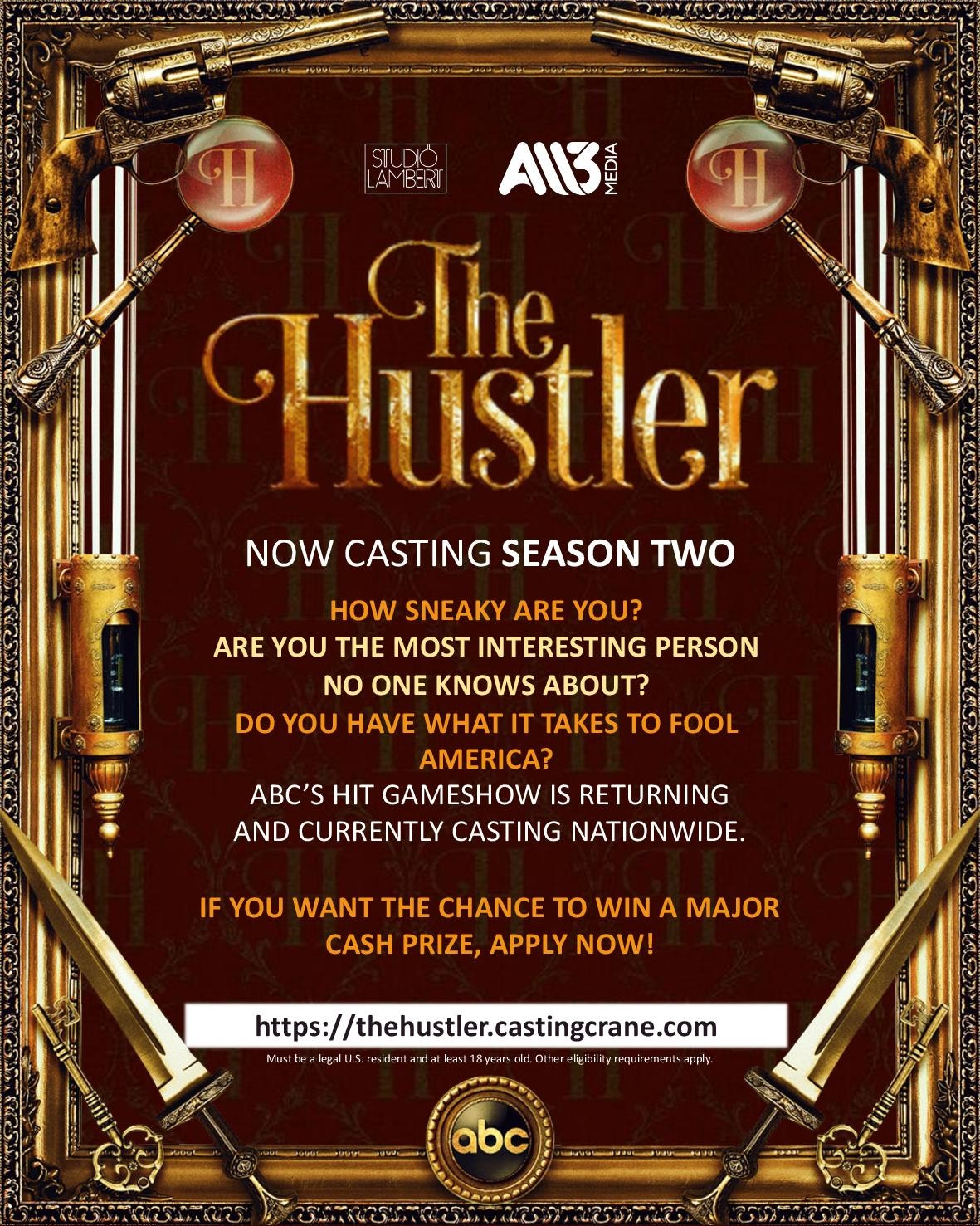 The Hustler: Season Two; ABC Game Show Renewed and Casting