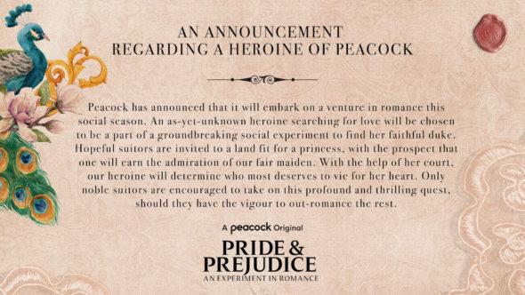 Pride & Prejudice TV Show on Peacock: canceled or renewed?